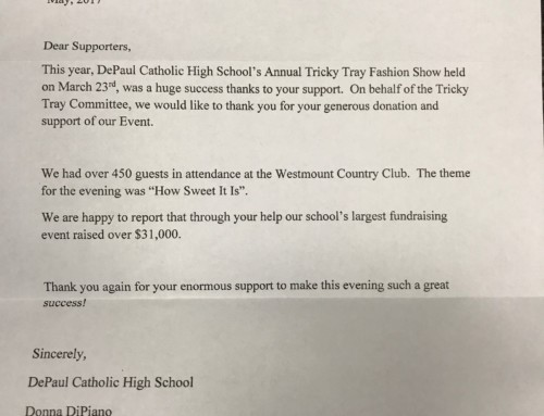 DePaul Catholic High School Thanks You!