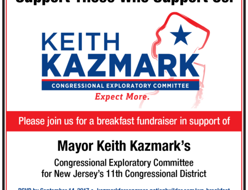 We are supporting Keith Kazmark
