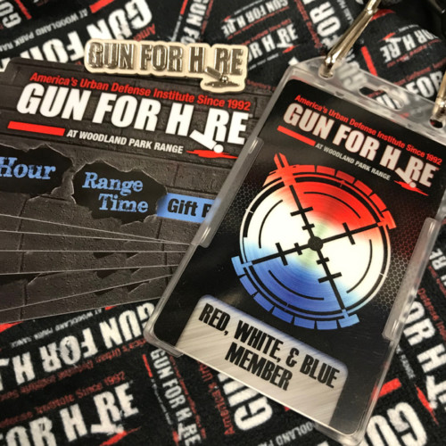 RWB Gun Range Membership 500x500 - 1 Yr. Red, White, & Blue Membership