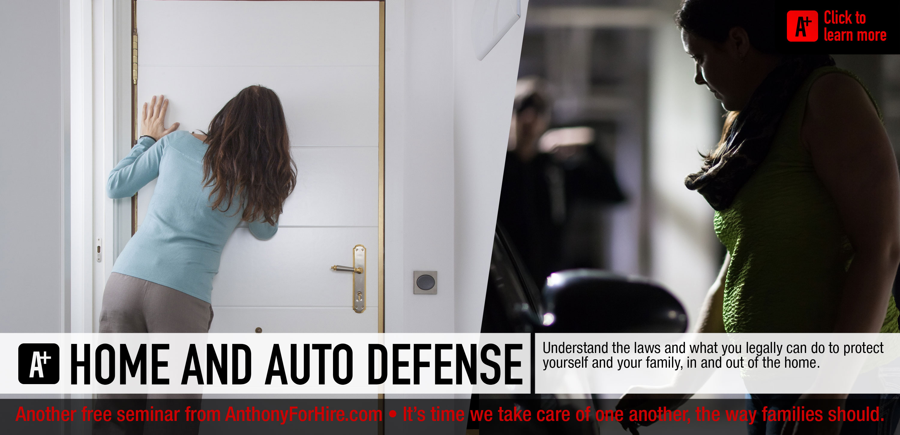 Home and auto defense - education