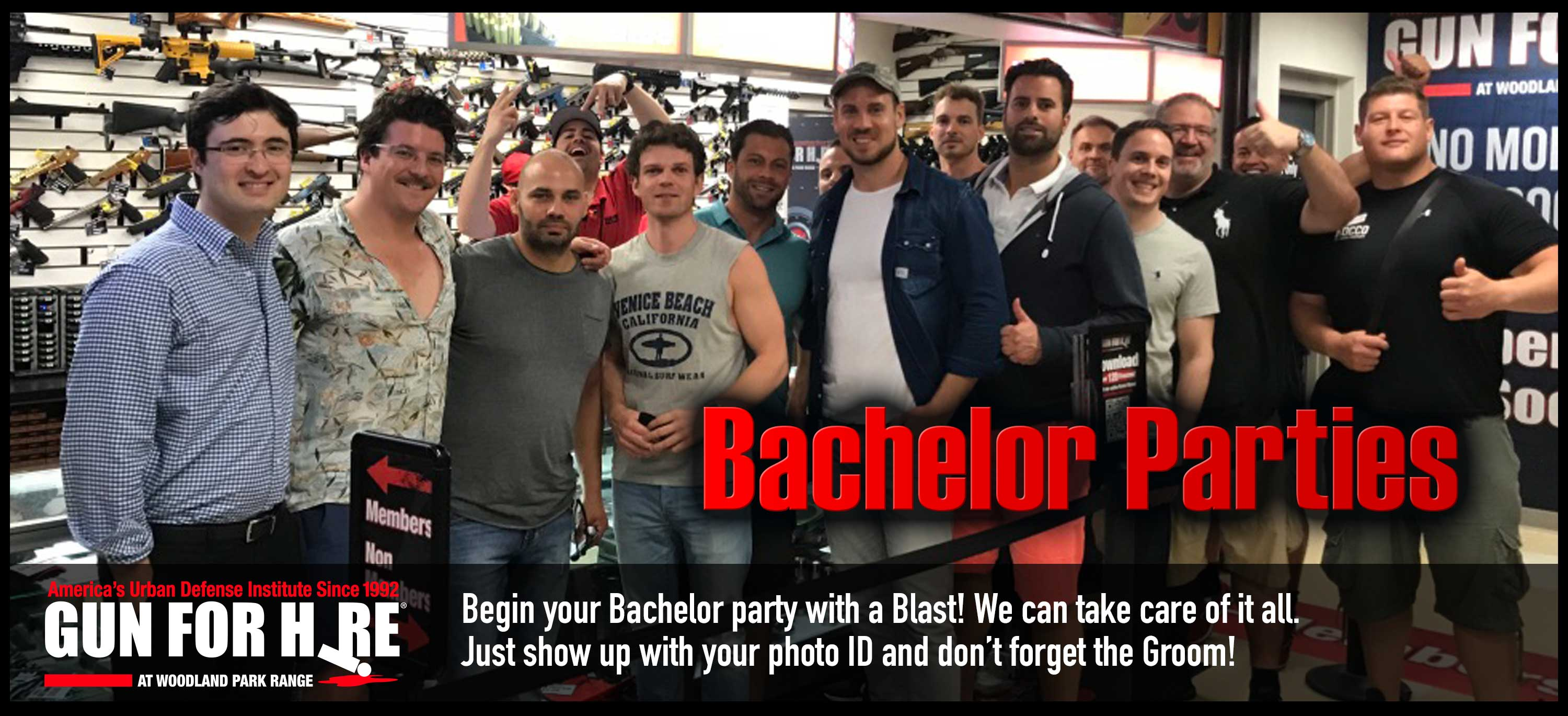 Bachelor Parties NYC Germany - Shooting Range Bachelor Party