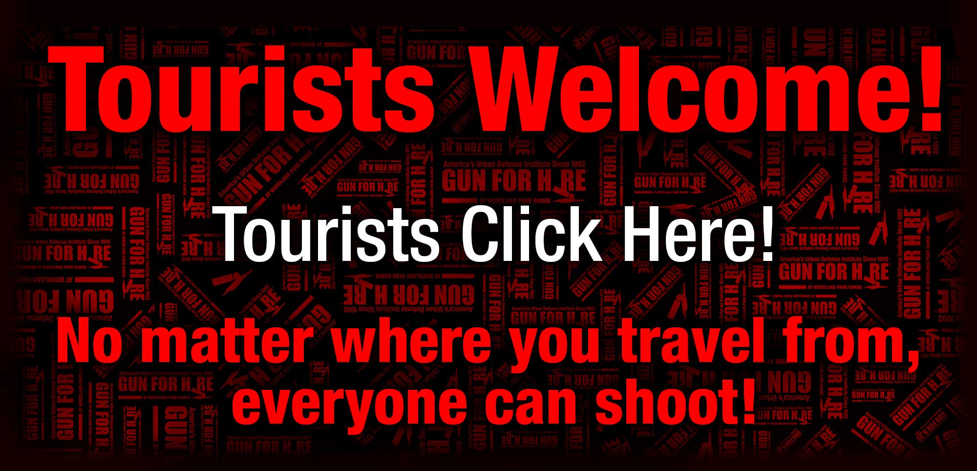 Welcome Tourist 1 - shooting range nyc